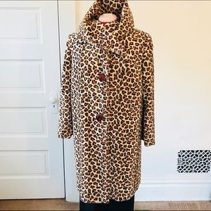 FAB VINTAGE FAUX Cheetah 1960s MOD size M